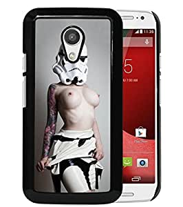 Lovely And Unique Designed Case With stormtrooper Black For Motorola Moto G 2nd Generation Phone Case