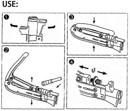 Outil de connecteur F outil de compression r/églable pour outil coaxial Dechengbao RG59 RG6 RG11 outil de connecteur de c/âble