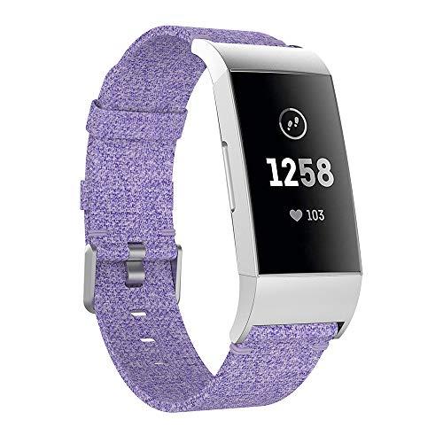 Bandas de repuesto Cimaybo para la pulsera de reloj Fitbit, pulsera de tela tejida, pulsera con cierre de metal compatible...