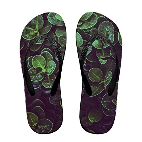 Michael Trollpoe Dew Drops of Water Green Flip Flops Funny Sandy Flat Thong Sandals Slipper Mat for Men ()