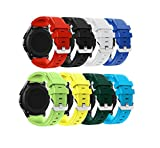 Gear S3 Frontier Classic Smart Watch Band, HandyGear 22mm Soft Silicone Sports Replacement Strap for Samsung Gear S3 Frontier Classic (S3 8Pack Group 1)