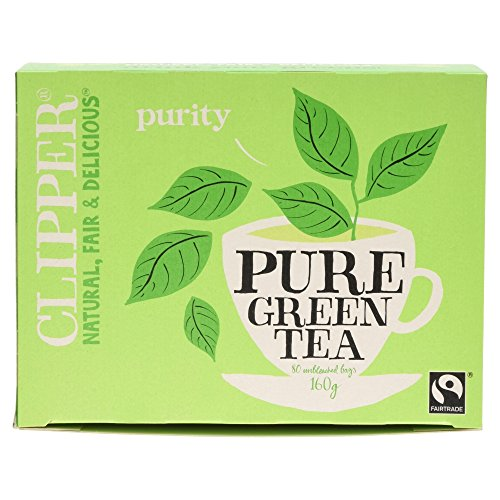 Clipper Teas - 80 Unbleached Bags of Pure Green Tea - 160g