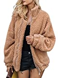 BerryGo Women's Faux Lambswool Fluffy Teddy Bear Coat Outwear