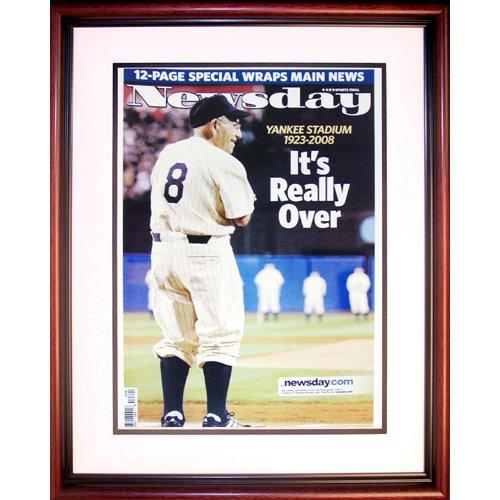 Steiner Sports MLB New York Yankees Yogi Berra Last Game at Yankee Stadium Framed Newsday 16x20 Print
