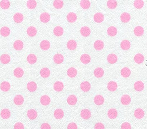 Minky Minnie Polka Dots WHITE LIGHT PINK Fabric / 58
