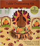 Amscan Turkey Dinner Thanksgiving Party Table Decorating Kit (23 Piece), Multicolor, 12.5""