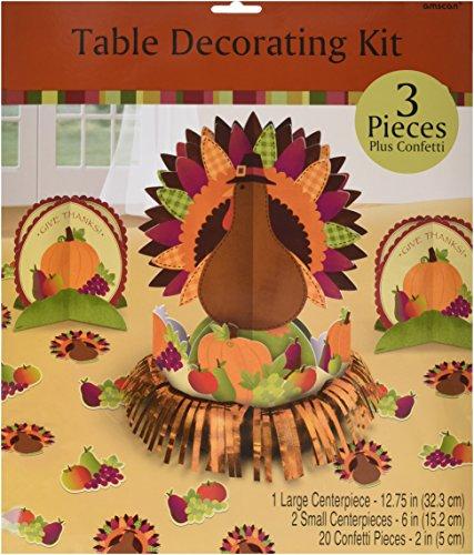 Amscan Thanksgiving Fringe Table Decorating Kit