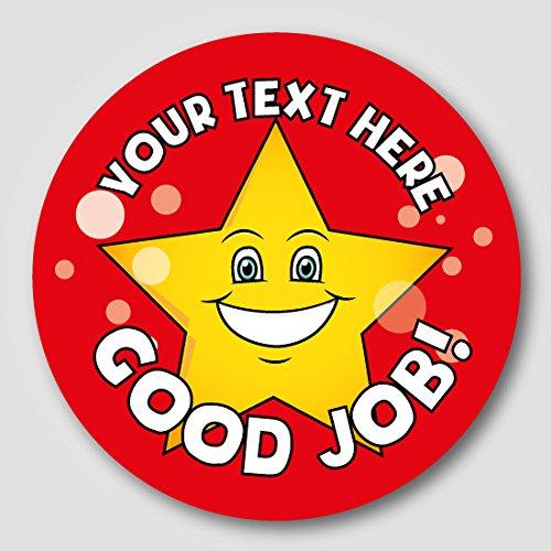 48 30mm personalised gold star childrens school reward stickers