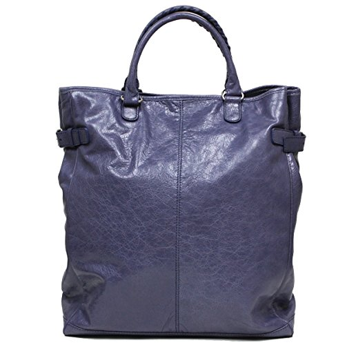 Balenciaga Arena Fettuccia Cerata Motorcycle Travel Duffle Bag Navy Blue 409267 by Balenciaga