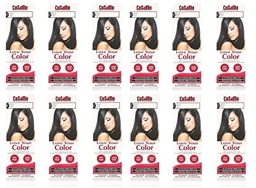 CoSaMo - Love Your Color Non-Permanent Hair Color 783 Black - 3 oz. (Pack of 12) + FREE LA Cross Manicure 74858 by CoSaMo