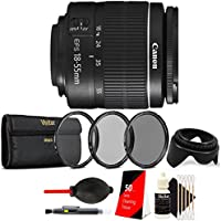 Canon EF-S 18-55mm III f3.5-5.6 Camera Lens with Tulip Lens Hood, UV CPL ND8 Filters and More For All Canon Digital Cameras
