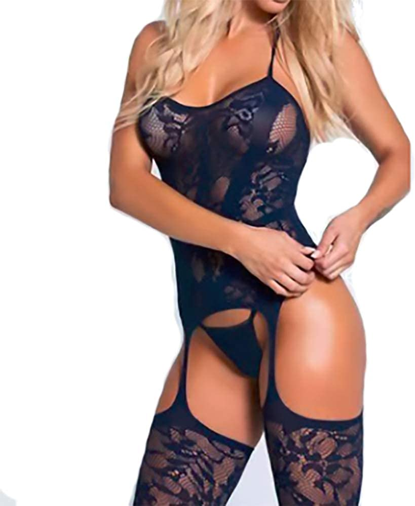 Erato Womens Body Stocking Lingerie Fishnet Bodystocking Lingerie Bodysuit Free Size