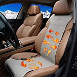 KINGLETING 12 Volt Heated Seat Cover With Intelligent Temperature ControllerGrey