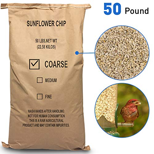 EasyGo Product Sunflower Kernels - Sun Flower Chips Wild Bird Food - 50 lb (Sunflower Wild Bird Seed)