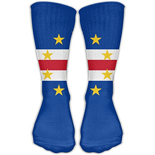 - WEEDKEYCAT Cape Verde Flag Knee High Socks For Mens Womens Adult Cotton Fun Long Socks For Yoga Hiking Cycling Running Soccer Sports