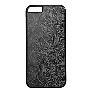 iCustomonline Texture Black White Patterns Tigers Customized Hard Case Cover for iPhone 6 Plus Black