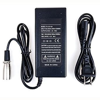Amazon.com: eopzol ™ 24 V 2 A Scooter Eléctrico Cargador De ...