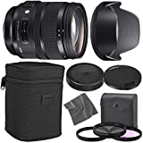 Sigma 24-70mm f/2.8 DG OS HSM Art Lens for Nikon F with AOM Starter Kit, Sigma Case, Hood, Ultraviolet Filter (UV) Polarizing Filter (CPL) Fluorescent Daylight Filter (FL-D) - International Version
