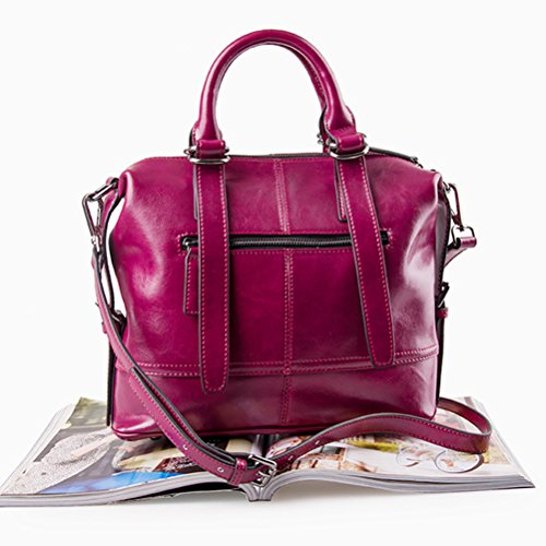 de Señoras de Zhuhaijq Bolso PU Grande Body Cross Bolsas Mujer Bags Morado Hombro Cuero Diseñador de Cruzados xqZrIw5Z