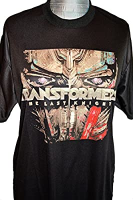 Transformers The Last Knight Movie T-Shirt Bumblebee Optimus Prime Megatron (Large Optimus)