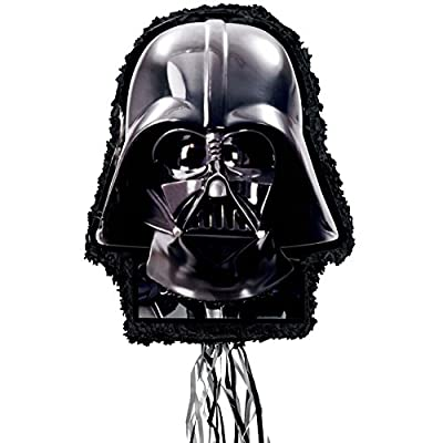 Ya Otta Pinata Star Wars Darth Vader Pull String Pinata 22 inches, Multi-colored, One Size