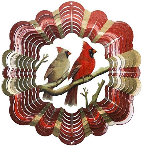 Beautiful Cardinal Wind Spinner-Vibrant Color Cardinals 12