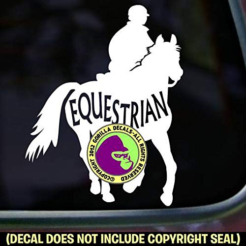 EQUESTRIAN INSIDE TRAIL RIDER Horse Endurance Vinyl Decal Sticker A