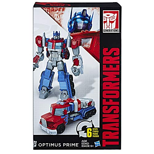 Transformers Toys Heroic Optimus Prime Action Figure - Timeless Large-Scale Figure, Changes into Toy Truck - Toys for Kids 6 and Up, 11-inch(Amazon Exclusive)