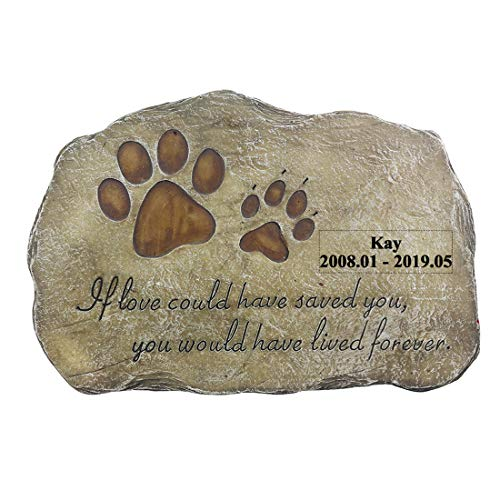 somiss Personalized Dog Memorial Stones Custom Dog Grave Markers Indoor Outdoor for Garden Backyard Tombstone-A Beautiful Remembrance Gift for a Grieving Pet Owner