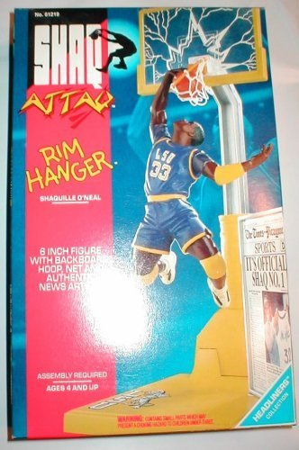 Shaq Attaq Shaquille O'neal Rim Hanger Action Figure 1993 by Kenner (Kenner Action Figures compare prices)