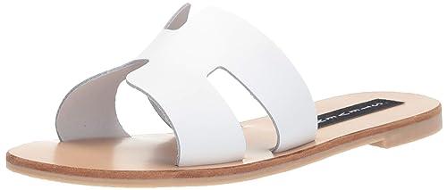 d9ed2941dcc7c Steve Madden Women's Greece White Leather Sandal 7 US