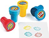 24 Superhero Self Inking Reward Stampers for Kids - Party Bag Fillers by CRAFTY CAPERS