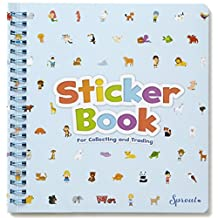 Sprout-size Original Sticker Book for Reusable Stickers - Reusable Sticker Album with Built-in Sticker Pocket