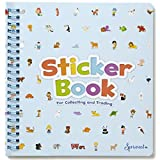 Sticker Farm Original Series Travel-Size (7.5 x 7 in) Reusable Sticker Album for Collecting Stickers, Small Activity Album with 30 Puffy Stickers to Start Collection