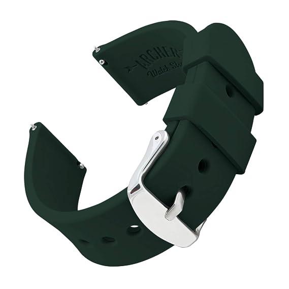 Archer Watch Straps | Repuesto de Correa Reloj de Silicona para Hombre y Mujer, Caucho Fácil de Abrochar para Relojes y Smartwatch, 16mm, 18mm, 20mm, ...