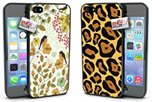Birds and Cheetah Print Designer Cases TWO PACK for iPhone 4 or 4s