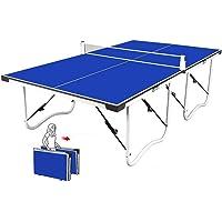 Kamiliya 2020 Juego De Mesa Ping Pong con Red, Fácil Montaje, Mesa De Tenis De Mesa Compacta De Tamaño Mediano, Modo De Reproducción Doble Entrada Red De Tenis