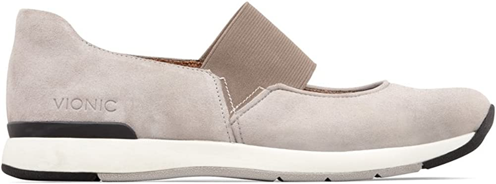 Vionic Cosmic Cadee Mary Jane Chaussures de marche décontractées avec support orthopédique dissimulé Gris Clair