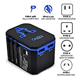 Power Plug Adapter - International Travel - w/USB Ports Work for 150+ Countries - 220 Volt Adapter - Travel Adapter Type C Type A Type G Type I f for UK Japan China EU Europe European by SublimeWare