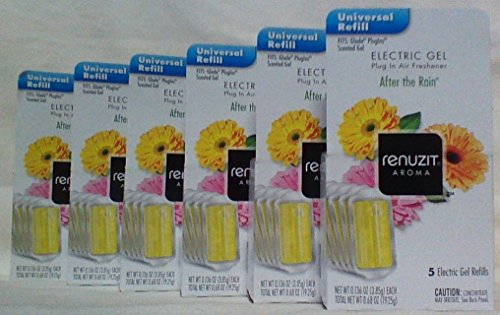 30 RENUZIT After The Rain ELECTRIC GEL PLUG IN REFILLS Fits Glade PlugIns 6 (Electric Plug In Refill)