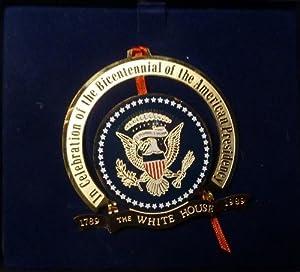 White House Historical Association - 1989 - Presidential Bicentennial Edition - Christmas Tree Ornament