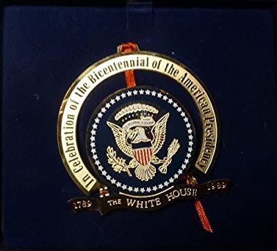 White House Historical Association - 1989 - Presidential Bicentennial Edition - Christmas Tree Ornament