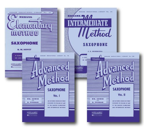 Hal Leonard Rubank Methods for Saxophone - Four Books - Includes Elementary, Intermediate, Advanced Volume 1, and Advanced Volume 2 ()