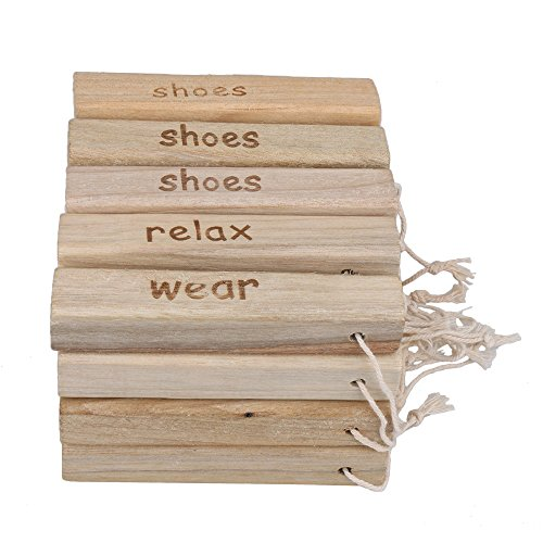 RDEXP Natural Camphor Wood Aromatic Non-toxic Clothes Protector Moth Repellent Wood for Closet Drawer Storage Set of 20 by RDEXP (Image #5)