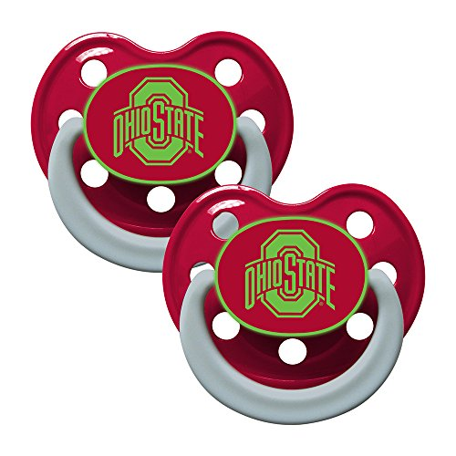 Baby Fanatic Pacifier - Glow In The Dark (2 Pack) - Ohio State University