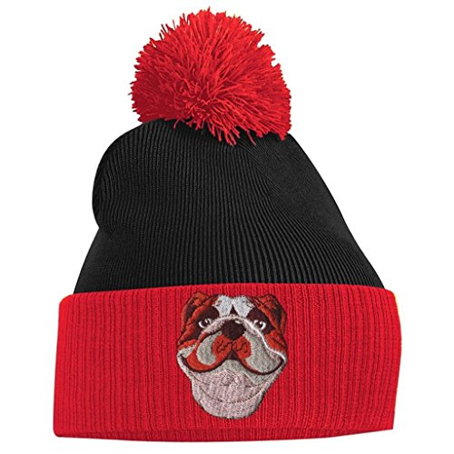 Pom Bang Beanie Red and Clothing Tidy Black British Pom Bulldog ZZq1EwrS