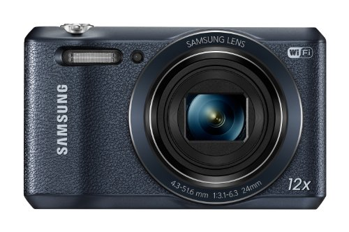 Samsung WB35F 16.2MP Smart WiFi & NFC Digital Camera with 12x Optical Zoom and 2.7' LCD (Black)