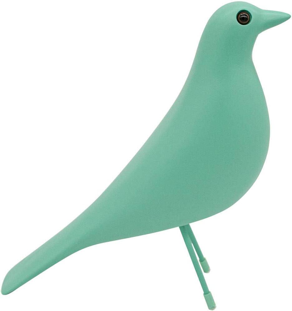 Eames House Bird, Mid Century Bird Adornment Office Home Decor, Desk Dove Ornament, Arts Pigeon Gifts. Eames Replica Sculpture (Teal)