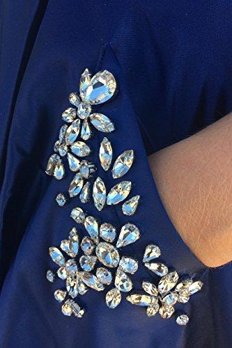 Schulter Formale Lovelybride Himmel Aus Line Liebsten Abendkleider der Party A Kleider Blau Lang pBBKSrH
