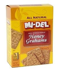 Mi-Del Classic Natural Honey Graham Cracker, 16 Ounce -- 12 per case.